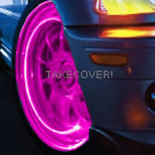 PINK MAGENTA LED TYRE LIGHTS TIRE WHEEL VALVE STEM CAP LIGHT NEW