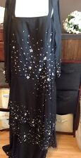 Peridess Bridal Size 18 Mother Of The Bride Or Groom Black Crystals Free Ship