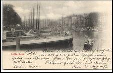 Rotterdam Holland Niederlande AK 1905 gelaufen Teilansicht Hafen Schiffe Boote