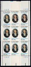 Sc# 2013 20 Cent Dr. Mary Walker (1982) MNH MS PB/4s P# 11111 SCV $7.00