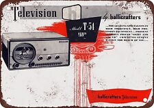 """7"""" x 10"""" Metal Sign - 1948 Hallicrafters Televisions - Vintage Look Reproduction"""