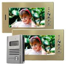 Farb Video Gegensprechanlage Türsprechanlage IR Nachtsicht 2 Monitore 7 Zoll