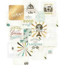 """PROJECT LIFE ~ 4"""" x 4"""" Cards 12 pack ~ Adventure ~ includes Gold Foil & Die Cuts"""