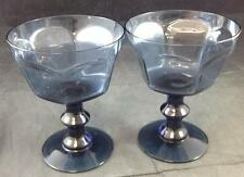 Lenox Crystal ANTIQUE DARK BLUE 2 Champagne/Tall Sherbet GREAT CONDITION