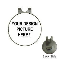 New Personalized Custom Your Logo Design Photo Text Golf Ball Marker Hat Clip