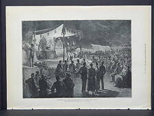 Illustrated London News Full Page B&W S6#152 May 1879 Lyric Theatre in the Camp