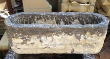 Rough Stone Hand Chipped Garden Trough - Garden Pot