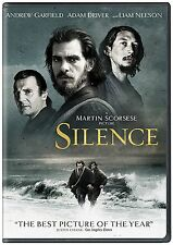 SILENCE (DVD, 2017) BRAND NEW OFFICIAL STUDIO RELEASE! FREE SHIPPING! SCORCESE