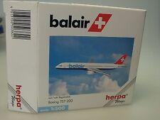 Herpa Wings B757-200 balair SWISS mit Regi - 503822 - 1/500