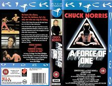 A FORCE OF ONE VHS PAL CHUCK NORRIS,JENNIFER O'NEILL,RON O'NEAL 70'S RARE