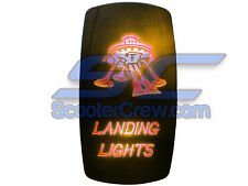 UTV Rocker Switch Orange Led On Off Landing Light Toggle Square 5 tab Dune Sand
