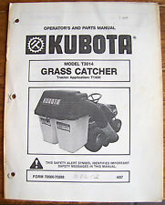 KUBOTA Model T3014 Grass Catcher Tractor Application: T1400 April 1987  Lot #420