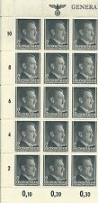 1941 GENERALGOUVERNEMENT 2GR. Partial Sheet Hilter Nazi Stamps MNH