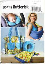 BUTTERICK SEWING PATTERN 5798 BABY NAPPY BAG, SLING, CHANGING MAT, NECK SUPPORT