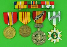 MARINE CORPS VIETNAM 4 MEDALS - MOUNTED 6 RIBBON BAR - USMC
