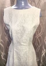 Womans Long Elegant Vintage Lace Dress Gown Sz Small_Wedding