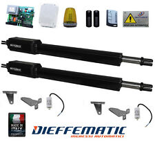 KIT COMPLETO CANCELLO BATTENTE 2 ANTE APRICANCELLO GENIUS APRIMATIC MOTORE 220V