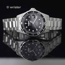 Invicta Pro Diver Black Dial Silver Tone Stainless Steel 37.5mm Mens Dive Watch