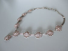 Silber Kette, Dirndl, silberne Blüten, Edelweiss & Geschenktüte v. Pilgrim