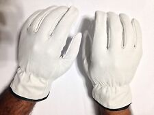 1 Pair Goat Skin Grain Leather Drivers, work safety gloves (PPE), Size  M