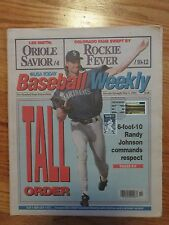 RANDY JOHNSON Baseball Weekly 1994 CANCELED w/ Induction Stamp Magazine MARINERS