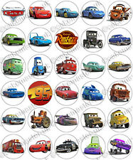 30 x Pixar Cars Party Collection Edible Rice Wafer Paper Cupcake Toppers