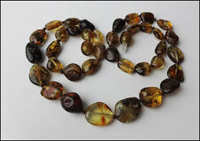 Natural Green Baltic Amber Necklace
