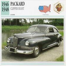 1946-1948 PACKARD CLIPPER EIGHT Classic Car Photograph / Information Maxi Card