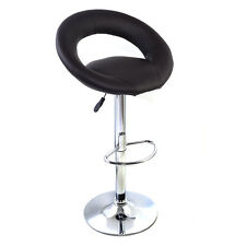 1PC PU Leather Adjustable Counter Swivel Bar Stool Pub Barstools Chairs Brown