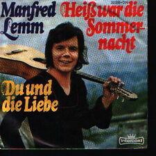 """7"""" Manfred Lemm Heiß war die Sommernacht / Du und die Liebe 70`s"""