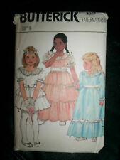 Flower Girl Dress Petticoat Butterick #6324 Pattern Size 6 Party Event