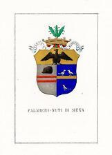 Araldica stemma araldico della famiglia Palmieri-Nuti di Siena