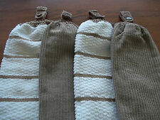 4   CROCHET TOPS DOUBLE THICKNESS HAND TOWELS