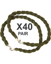 40 Pairs Trouser Twists Bungee Twist Elastic Leg Ties Army Combat Military Boots