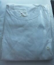 White egyptian cotton t shirt size large New with cellophane package 3.75