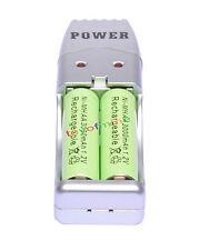 2 AA colore verde + USB Charger Ni-MH AA / AAA batteria 3000mAh ricaricabile