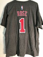 Adidas T-Shirts NBA Tee Bulls Derrick Rose Grey sz XL