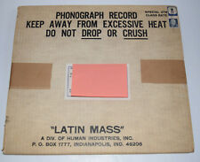 Latin Mass Phonograph Record in Mailer SEALED! Human Industries INC
