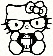 HELLO KITTY Cell Phone Android Car Vinyl Decal Window Sticker Laptop Tablet