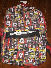 NWT Walt Disney World Multi Color Patchwork Mickey Mouse Print Backpack Bag