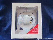 2008 Hallmark Keepsake Christmas Ornament Having a (Snow) Ball Glass Penguins