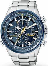 New Citizen Men's Blue Angels AT8020-54L Stainless Steel Eco-Drive Dress Watch