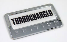 Turbo Charged Edition Chrome Emblem with domed decal Car Auto motorcycle Badge