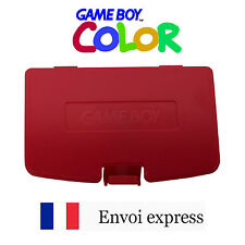 Cache pile Rouge Fushia Game Boy Color neuf [Battery cover Gameboy GBC] red