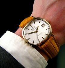 Rare Lovely Quality 1975 SOLID GOLD Rotary ETA 2824 Midsize Vintage Retro Watch