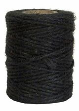50M Black Jute Twine Roll DIY Wrap Gift Hemp Rope Cord String Roll