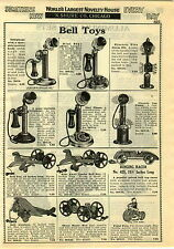 1929 PAPER AD Bell Toys Toy Phones Telephones Ringing Race Car Airplane Sambo