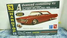 AMT NOSTALGIC SERIES 3N1 1963 FORD HARDTOP ADV CUSTOMIZING MODEL KIT SH1C