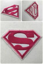 Superman SuperGirl Super Girl Pink Movie Embroidered Sew/ Iron-On Morale Patch