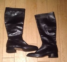 "LADIES ""BALLY""BLACK ALL LEATHER BOOTS , RIDING STYLE SIZE 5.5 Excellent Conditio"